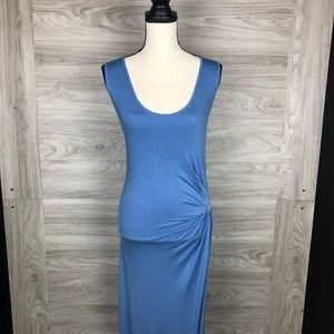 Young Fabulous & Broke Blue Ruched Dress Small